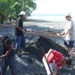 www.volunteereco.org-Sea turtle volunteer-digging wholes around turtle nests