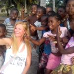 www.volunteereco.org marine mega-fauna volunteer selfie - within local children