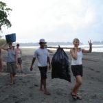 www.volunteereco.org-Sea turtle volunteer, collecting beach garbage