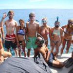Volunteer for community_happy volunteers after snorkelling.
